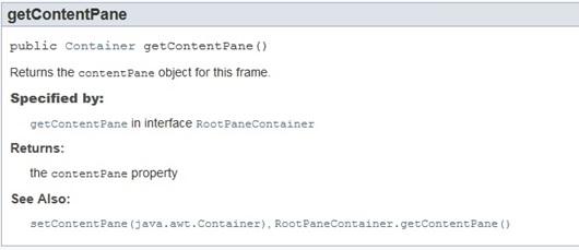 getcontentpane.add() vs add()